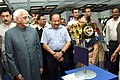 M. Hamid Ansari looking at the 'Exhibition on Science & Technology Innovations', organised by the Parliamentary Standing Committee on Science & Technology, Environment & Forests and Rajya Sabha, in New Delhi.jpg