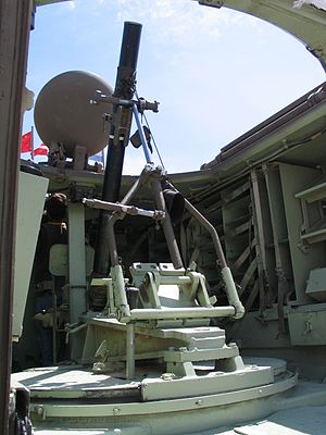Mortar carrier - Interior of an IDF M113 mortar carrier