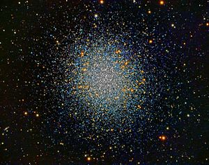 """Messier 13 - M13 from an 8"""" SCT in San Diego, CA"""