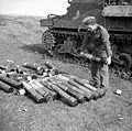 M7 Priest ammunition Anzio 31-01-1944 IWM NA 11636.jpg