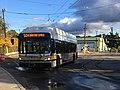 MBTA route 504 bus at Watertown Yard, October 2018.jpg