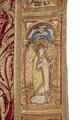 MCC-21485 Rode koorkap met verrijzenis op schild, aurifriezen met Bonifatius, Augustinus en Barbara (5).tif