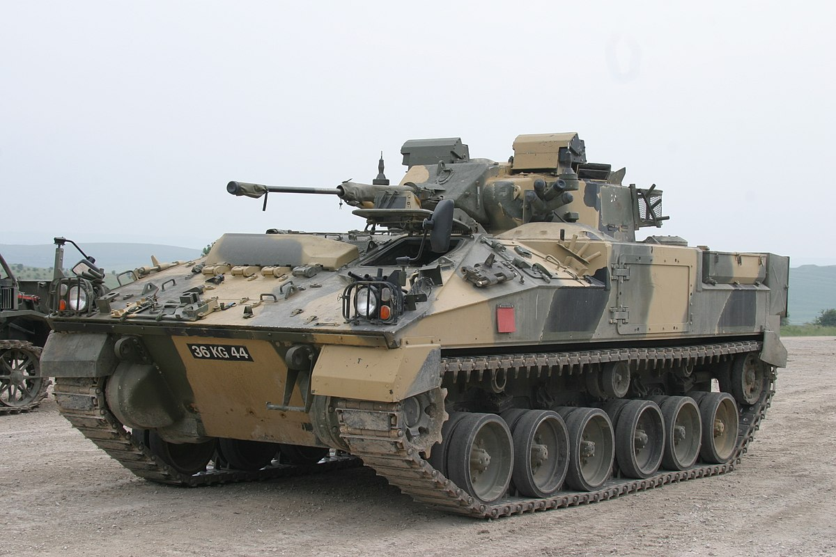 warrior tracked armoured vehicle