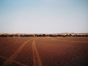 Marathon des Sables - The camp in which competitors sleep at night.
