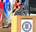 MG Anderson speaks during her promotion ceremony 2011.jpg