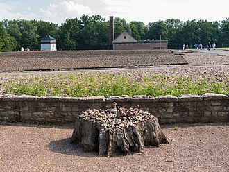 Goethe Oak - The remains of the Goethe Oak in the former Buchenwald concentration camp