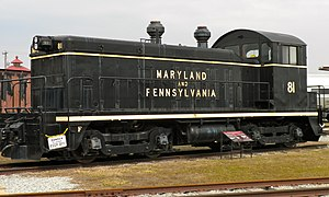 EMD NW2 - Maryland and Pennsylvania Railroad 81, at the Railroad Museum of Pennsylvania