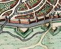Maastricht, omgeving Nieuwenhofwal, detail kaart Joan Blaeu, 1649 (Atlas van Loon, 1652).jpg