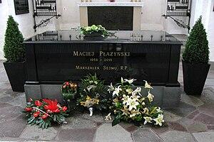Maciej Płażyński - Maciej Plazynski tomb in St. Mary's Church, Gdańsk