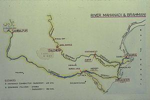 Brahmani River - The Brahmani River (top)