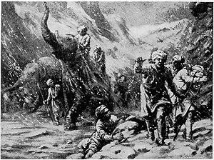 Jayapala - Disaster of Jayapala Army due to snow fall