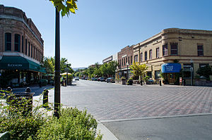 Downtown Winters Historic District - Image: Main Street Historic District Winters, CA