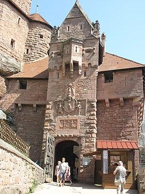 Château du Haut-Kœnigsbourg - Main gate with armorial of Wilhelm II