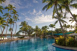Shangri-La's Fijian Resort - Main swimming pool