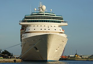 Cruise ship passenger ship used for pleasure voyages