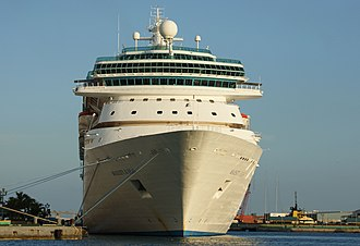 Cruise ship - Majesty of the Seas in Nassau, Bahamas.