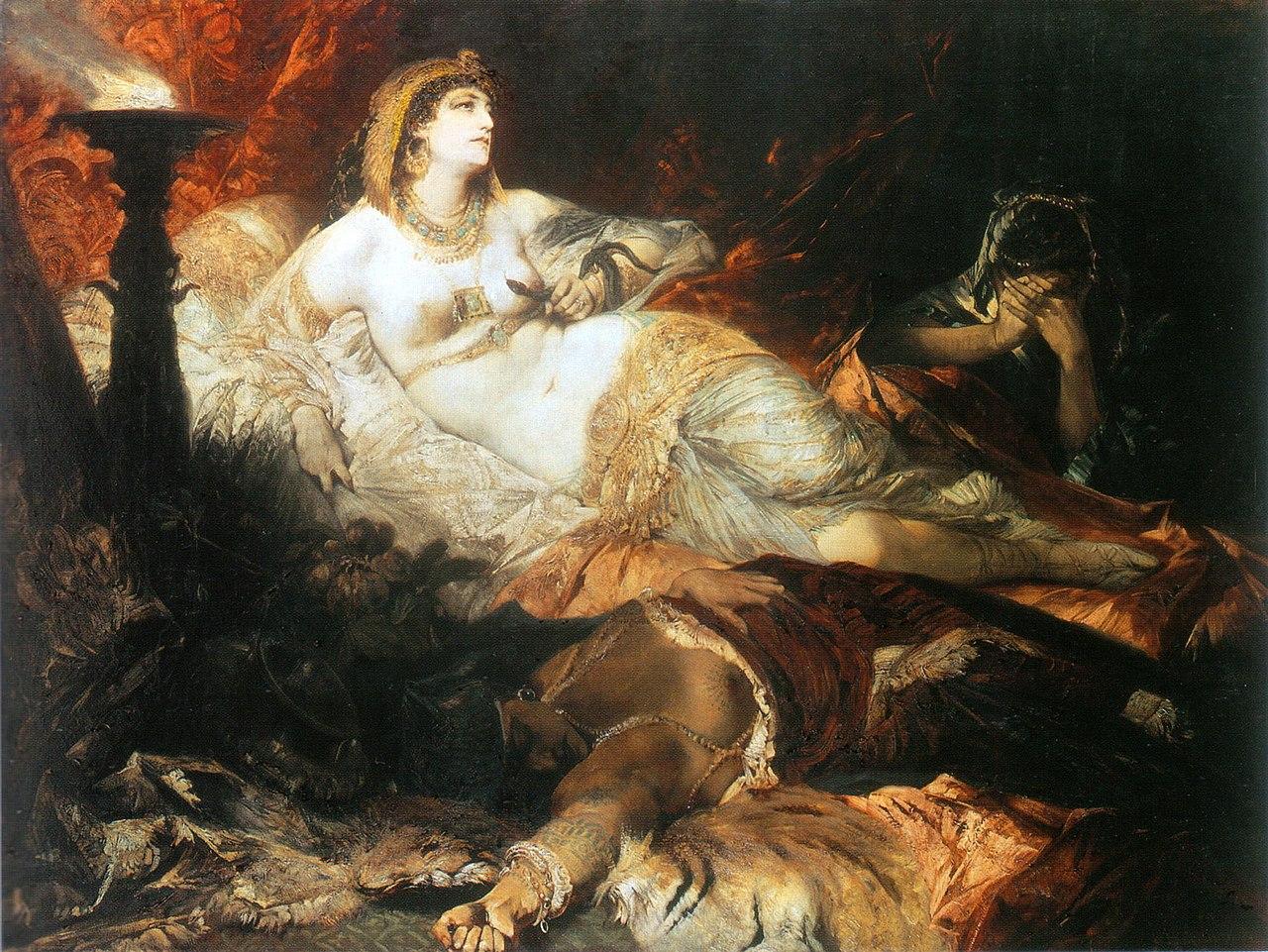 Makart, Hans - Der Tod der Kleopatra - 1875-76.jpg