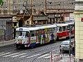 Malá Strana, Újezd, tramvaj 7234 s reklamou Praha.jpg