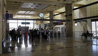 Jerusalem–Malha railway station - Passengers hall (2013)