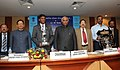 """Mallikarjun Kharge presented the two awards in the areas of Skill Development in the Craftsmanship, at the 40th meeting of """"National Council for Vocational Training"""", in New Delhi on December 16, 2011.jpg"""