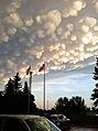 Mammatus clouds; Regina, SK, June 26, AD 2012.jpg