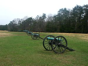 Second Battle of Bull Run - Stonewall Jackson's cannons on Henry House Hill
