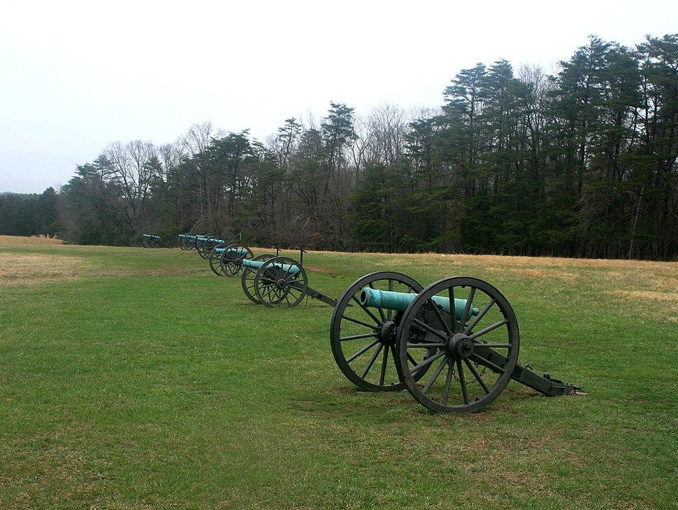 Manassas, Henry Hill, Jackson%27s canons