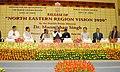 "Manmohan Singh, the Union Minister for Panchayati Raj and Development of North Eastern Region, Shri Mani Shankar Aiyar and other dignitaries are at the release of ""North Eastern Region Vision 2020"" Document, in New Delhi.jpg"
