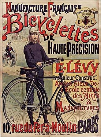 Maison Devambez - Poster for a bicycle manufacturer printed by Devambez in 1890