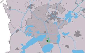Woudsend - Image: Map NL Wymbritseradiel Wâldsein