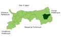 Map Yazu, Tottori en.png