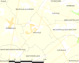 Mapa obce Thiouville