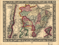Map of Brazil, Bolivia, Paraguay, and Uruguay; Map of Chili WDL145.png
