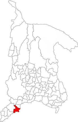Nagarain - Image: Map of Dhanusha District Highlighting VDC Nagarain