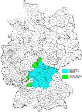 Location of Franconia
