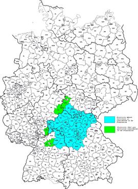 Locatie van Franken