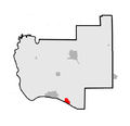 Map of Jersey County highlighting Elsah, Illinois.png