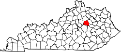 Map of Kentucky highlighting Clark County.svg