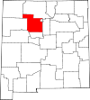 State map highlighting Sandoval County