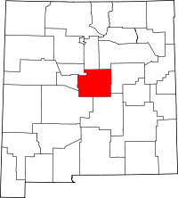 Map of New Mexico highlighting Torrance County
