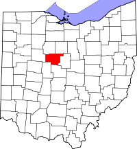 Map of Ohio highlighting Marion County.svg