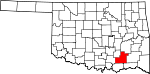 State map highlighting Atoka County