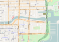 Map of Trump International Hotel and Tower (Chicago) location along the Chicago River.png