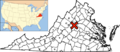 Map of Virginia & USA highlighting Charlottesville.png