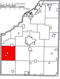 Location of Milton Township in Wood County