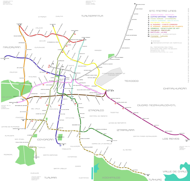 maps of mexico city. 2011 Mexico City 13/25 map of mexico city. Mexico City Metro Map.