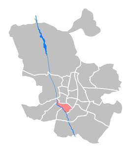 Location of Arganzuela