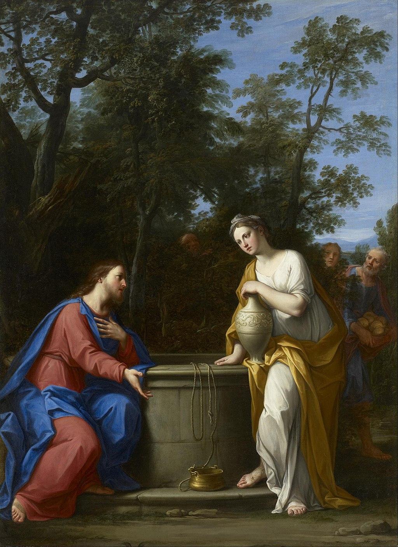 그리스도와 사마리아 여인 (마르칸토니오 프란체스키니, 1700년)