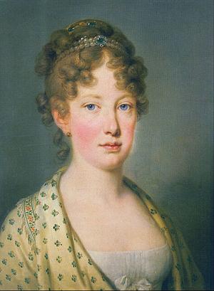 Maria Leopoldina of Austria - Leopoldina at age 18, 1815
