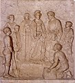 Maria Luisa, Duchess of Lucca poses the first stone of the route for Modena.jpg